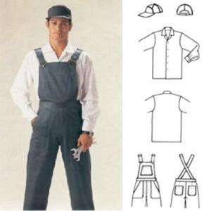 Camisa tecido Santista Sempre Igual bordado no bolso, Jardineira de brim pesado com 5 bolsos, bordado ou silk-screem, Boné de brim pesado.